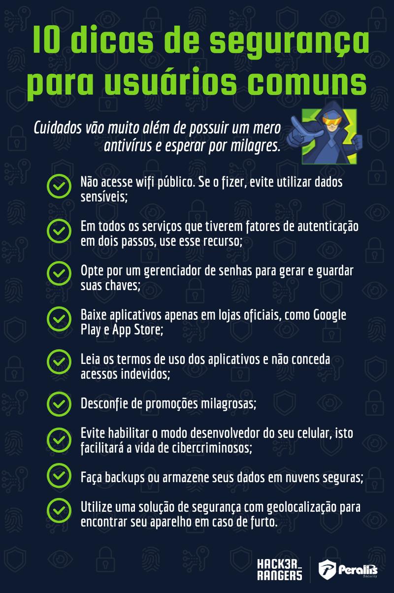 10 Dicas de segurança para usuários comuns
